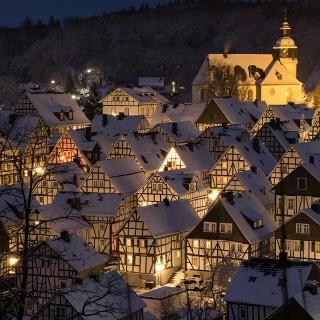 Freudenberger Altstadt im Lichterglanz
