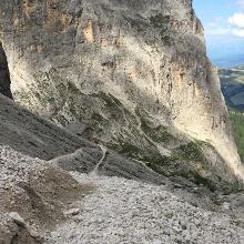 Weg zur Langkofelhütte