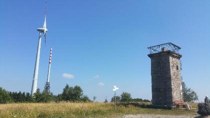 Bismarckturm und Windrad Hornisgrinde