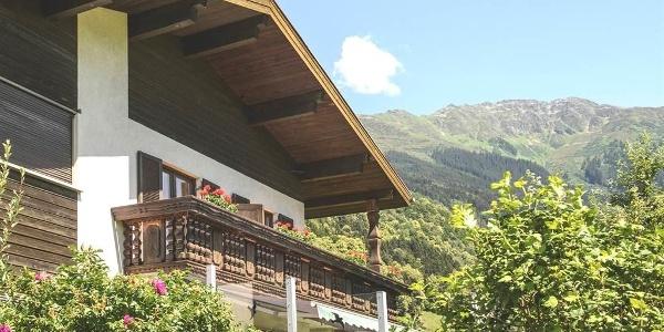 Blick auf Balkon Whng. 45 qm