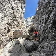Das letzte felsige Stück kurz vor dem Gipfel