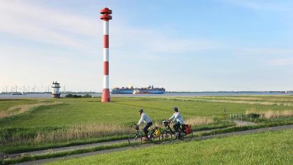 Unterwegs auf dem Nordseeküsten-Radweg