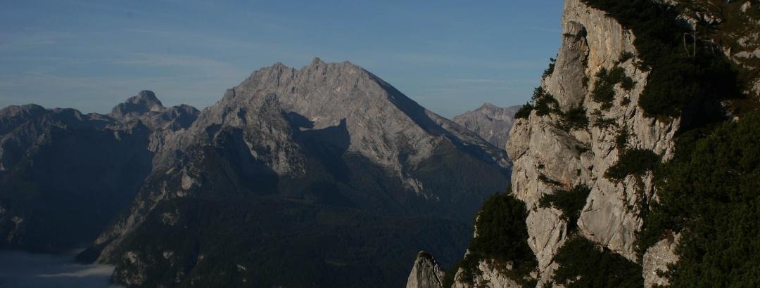Blick vom Mannlgrat Richtung Watzmann