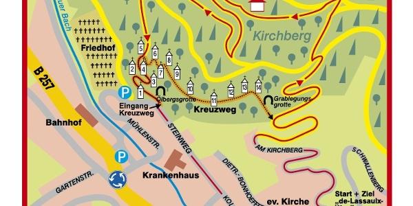 Karte Kreuzweg