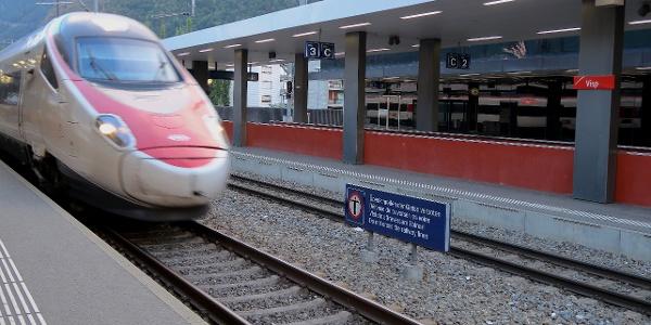 Bahnhof Visp.