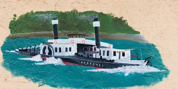 Festmény a Hajózástörténeti Múzeum falán