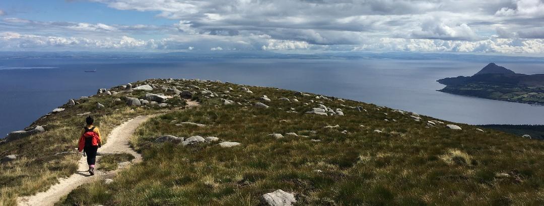 Descending towards Corrie from Goat Fell