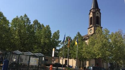 Beim Rathaus in Hartheim Rolli-WC