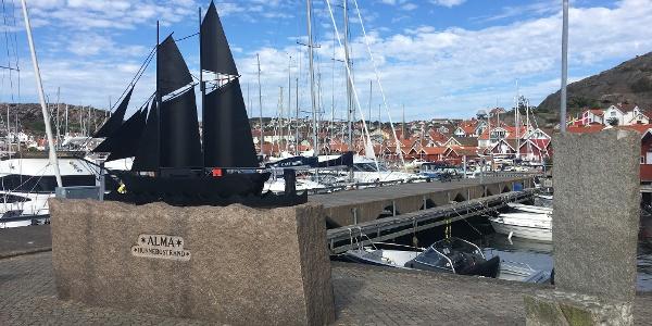 Hunnesbostrand harbour.