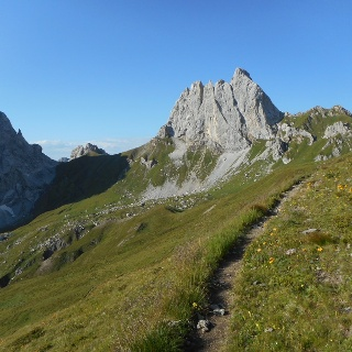 Vista verso il Monte Chiadenis e il Passo Sesis
