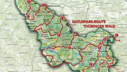 Karte Thüringen.Aktivregion Rennsteig Tourenportal Thüringer Wald
