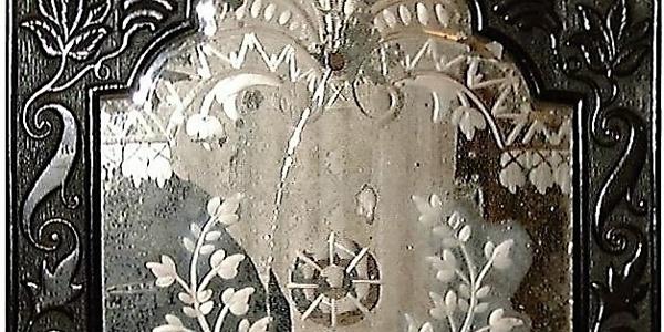 Alter in Spiegelberg hergestellter Spiegel