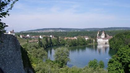 Rheinau, Blick auf Klosterinsel
