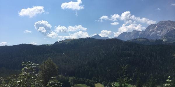 Aussicht zum Rossfeld Gipfel