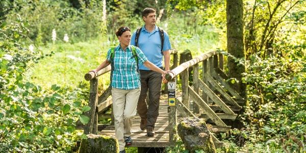 Überquerung des Üssbachs_Vulkaneifel-Pfad: Maare-und-Thermen-Pfad: Etappe 2: Lutzerath - Bad Bertrich