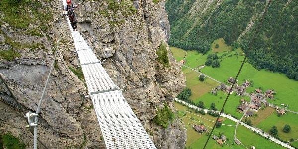 Nepalbrücke Klettersteig Mürren.
