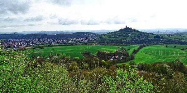Blick auf Burg Gleiberg