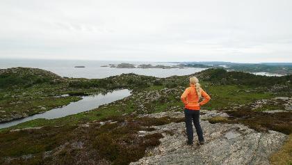 Ausblick über die Felsküste von Lindesnes