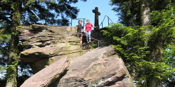 Gipfelkreuz am Bernsteinfels