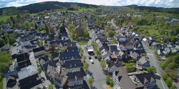 Luftaufnahme Hilchenbacher Zentrum