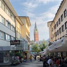 Pforzheim Innenstadt - mit Eiscafe