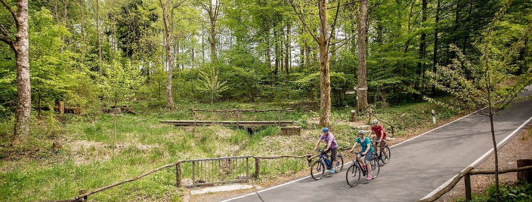 Fahrrad fahren an der Siegquelle