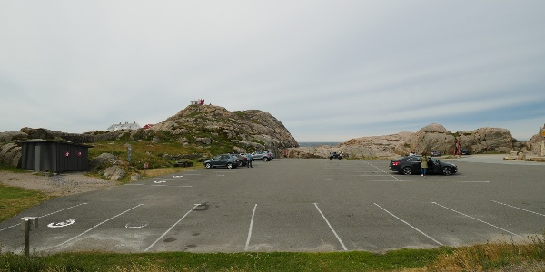 Norwegens südlichster Großparkplatz