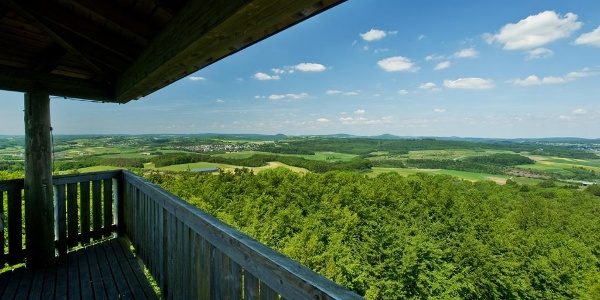 Aussicht von der Vulcano Infoplattform_Vulkaneifel-Pfad: Vulcano-Pfad (Rundtour) (Schalkenmehren)