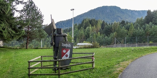 Ritterrastplatz, Start zum Rasburg Weg