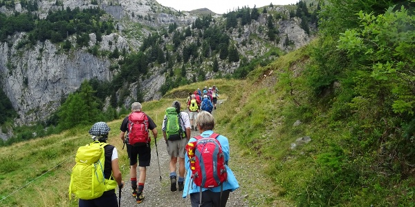 "Auf dem Weg ""Sentiero dei Pastori"" zum Lago Avostanis"
