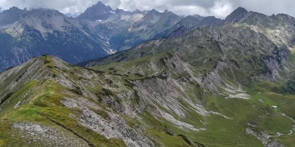 Sonntag, 26. August 2018 - Aussicht von der Steinkarspitze