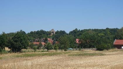 Blick auf Walbeck und die Ruine Stiftskirche St. Marien