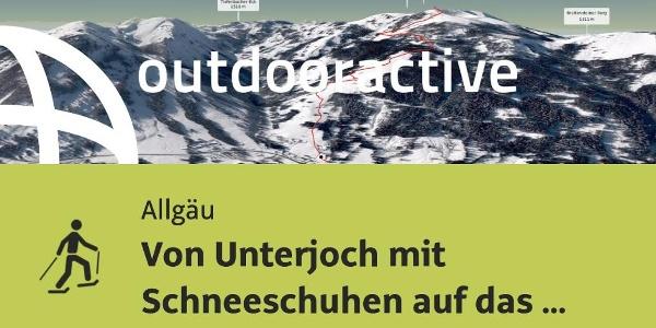 Schneeschuhwanderung im Allgäu: Von Unterjoch mit Schneeschuhen auf das Wertacher Hörnle