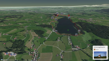 Joggingstrecke im Allgäu: Joggingrunde um den Niedersonthofener See