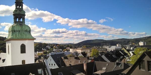 Die Marienkirche am Rande der Siegener Altstadt