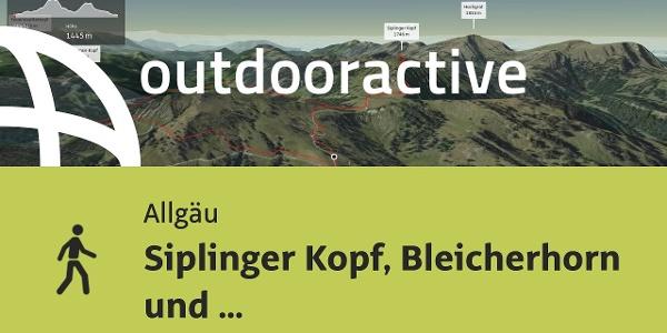 Wanderung im Allgäu: Siplinger Kopf, Bleicherhorn und Höllritzereck