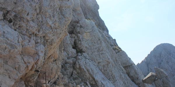 Abstieg von der Rinka