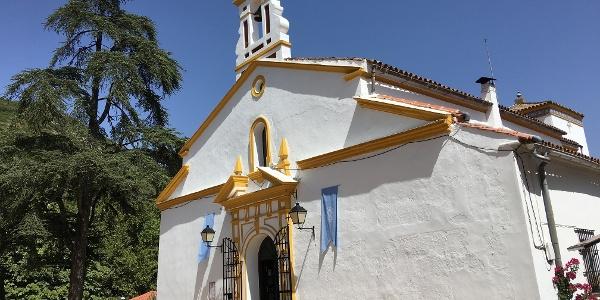 The church at Peña de Arias Montano.