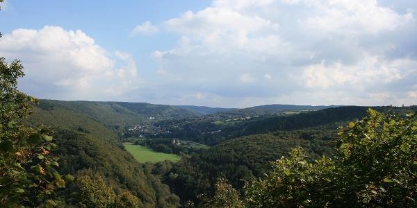 Aussichtspunkt Kickley mit Blick auf Gemünd