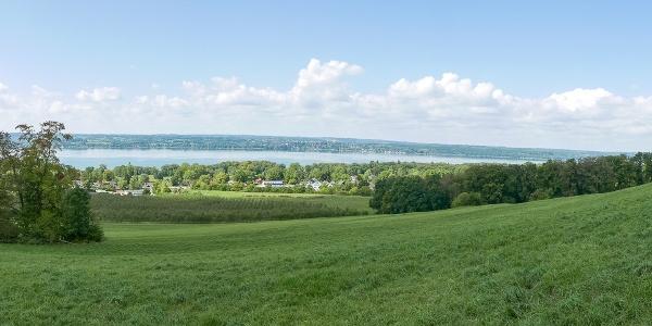 Panoramablick vom Jaudesberg über den Ammersee