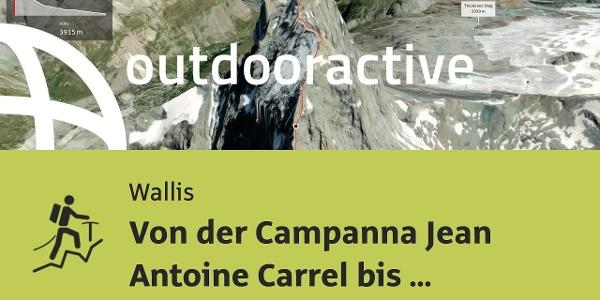 Hochtour im Wallis: Von der Campanna Jean Antoine Carrel bis nach Schwarzsee