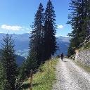 Aufstieg auf der Alpstrasse ab Boden Richtung Alp Valpun