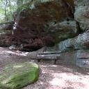 Pausenband unter den Felsen