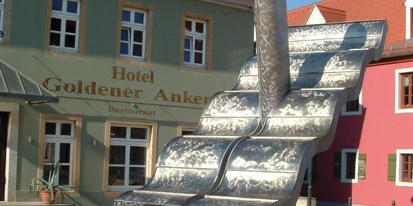Platz vorm Hotel Goldener Anker, Altkötzschenbroda