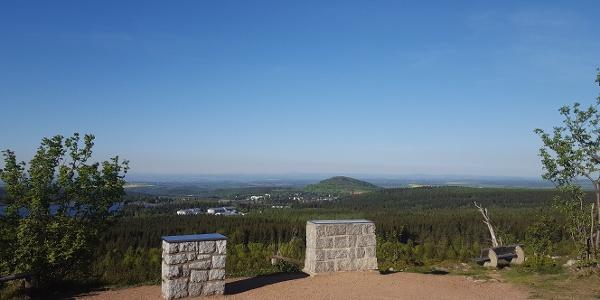 Blick auf Altenberg und den Geisingberg