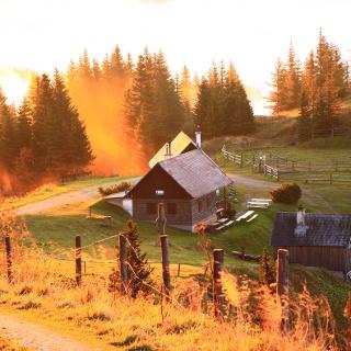 Sonnenuntergang auf der Kleinveitschalm