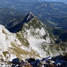 Blick ins Tal und den Aufstiegsweg