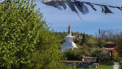 The stupa in Kőrösi Csoma Sándor Memorial Park