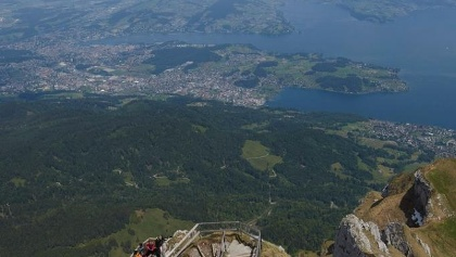 Aussicht vom Pilatus Richtung Vierwaldstättersee