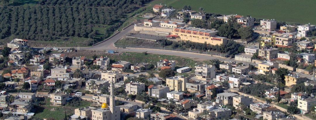 תצפית מהר הארבל על הכפר הבדואי ואדי חמאם שבמועצה האזורית אל-בטוף